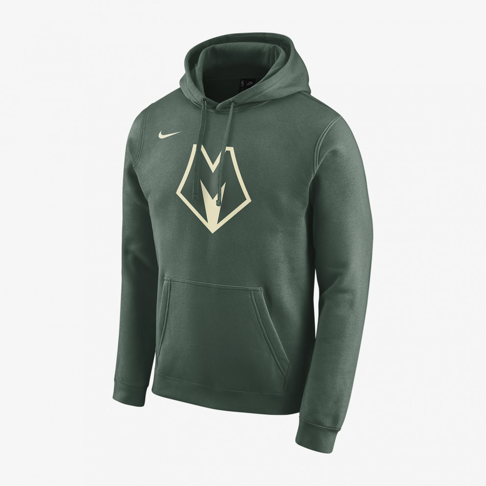 Nike Milwaukee Bucks City Edition Logo Men's Nba Hoodie