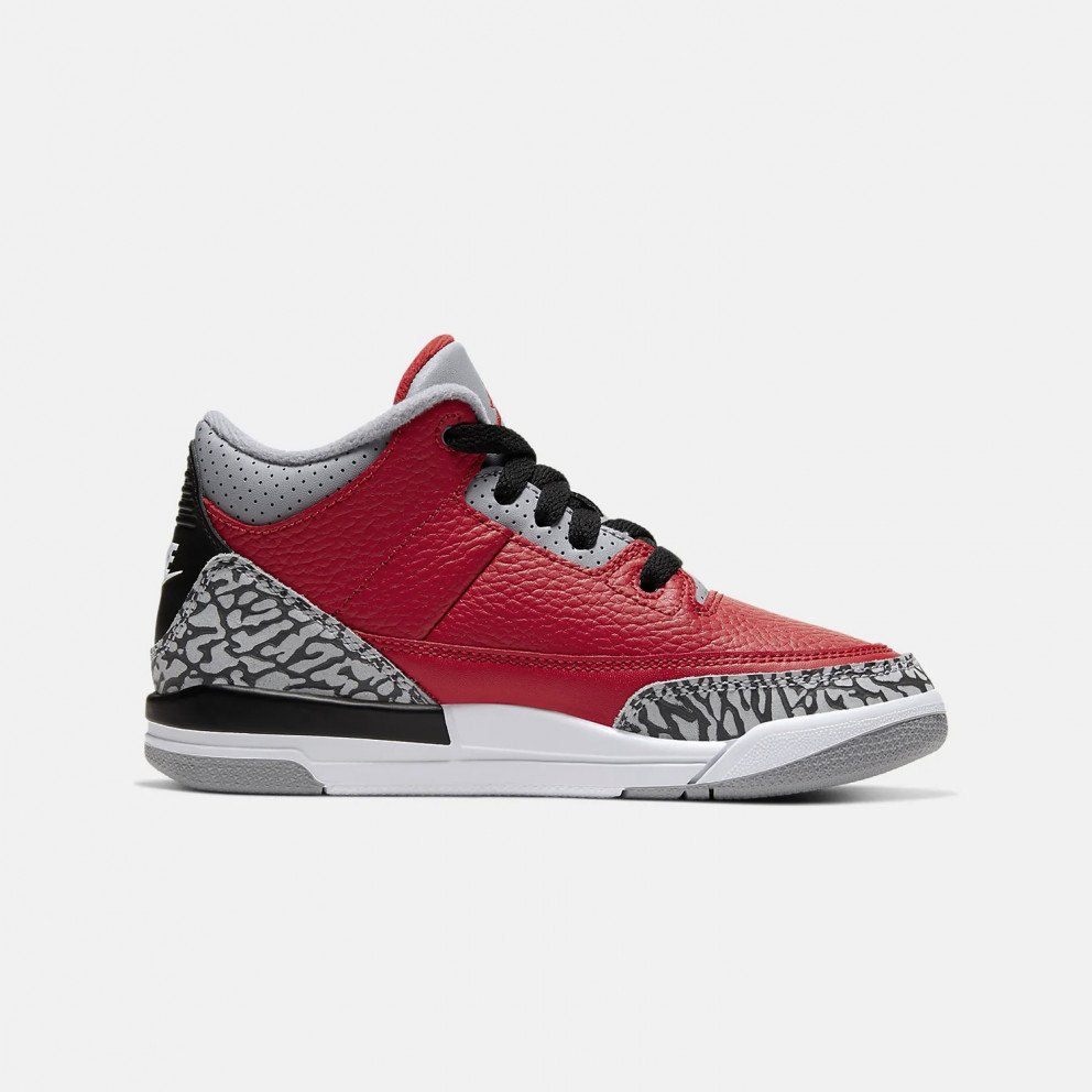 "Jordan Air 3 Retro ""Red Cement""  Youth Kids' Shoes"