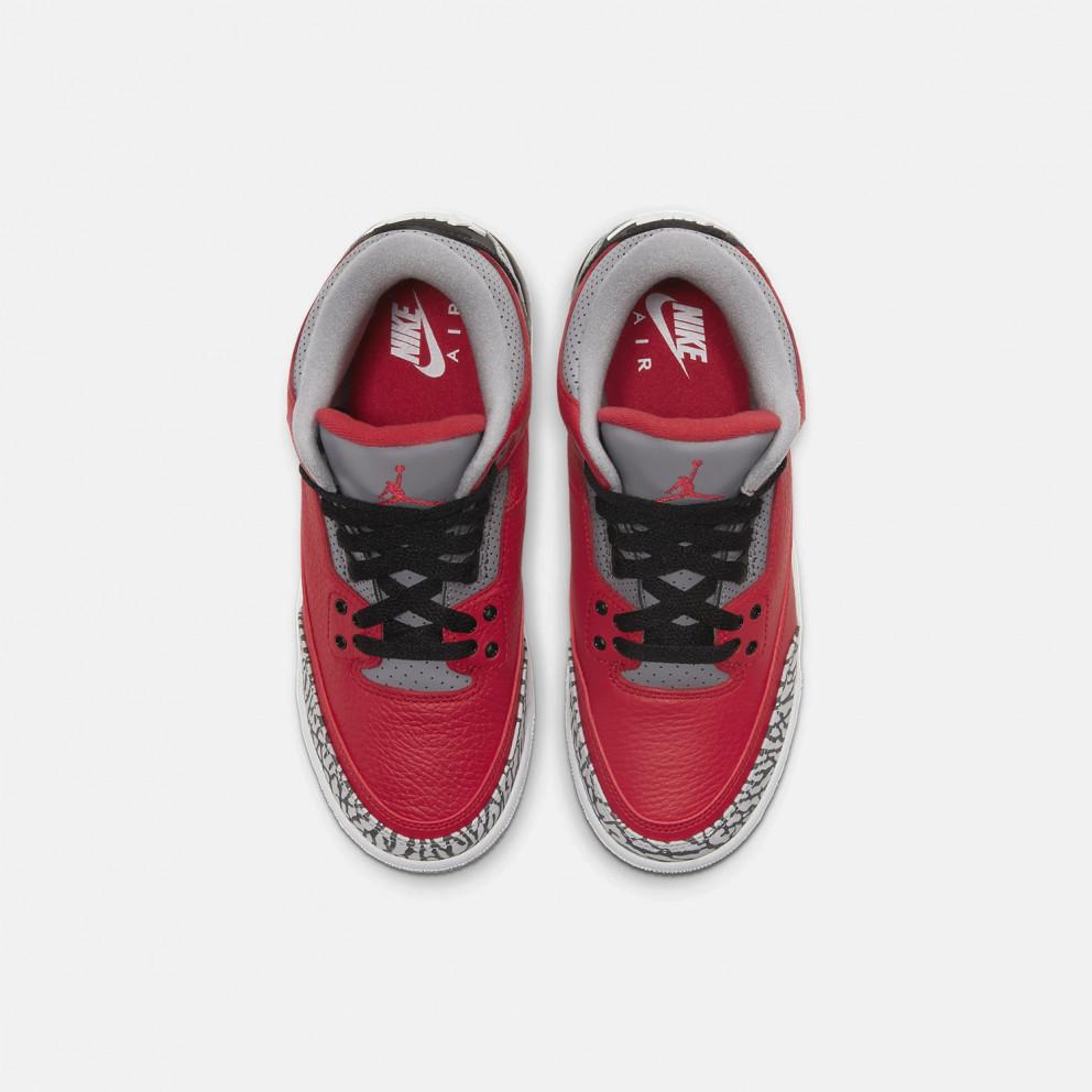 "Jordan Air 3 Retro ""Red Cement"" Kids' Shoes"
