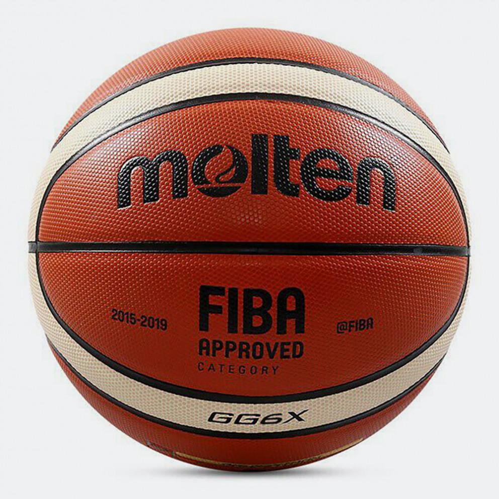 Molten Leather Μπάλα Μπάσκετ Εσωτερικού No 6