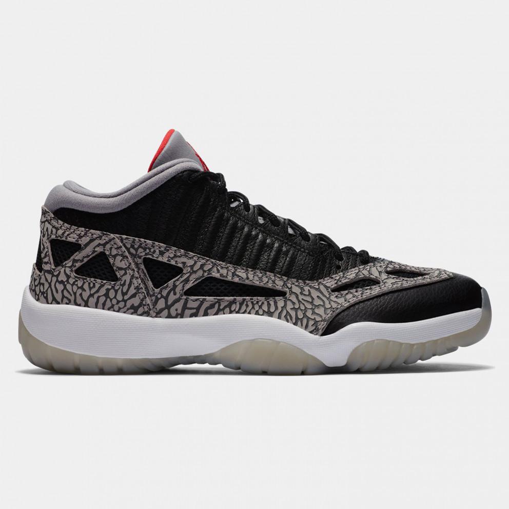 "Jordan Air 11 Low IE ""Black Cement"" Basketball Shoes"