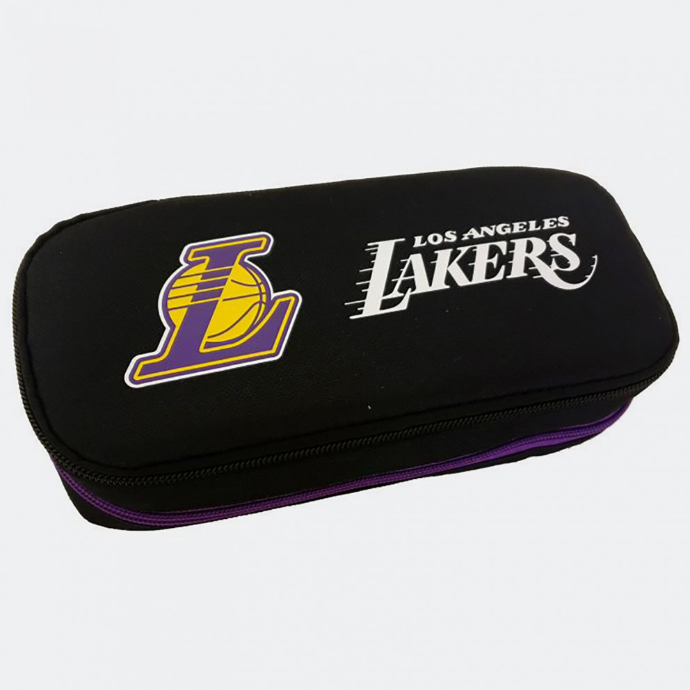 NBA Los Angeles Lakers Κασετίνα Βαρελάκι Οβάλ 9 x 21 x 6 cm