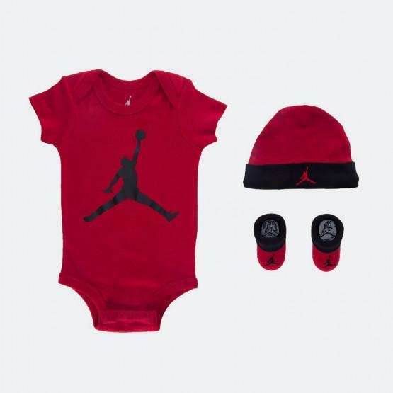 Jordan Jumpman Βρεφικό Αγορίστικο Σκουφάκι / Κορμάκι / Κάλτσες 3 τεμαχίων