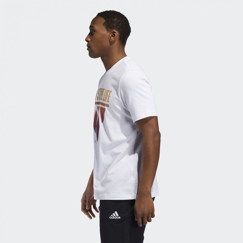 adidas Performance 3-Stripes Hoops Ανδρική Μπλούζα