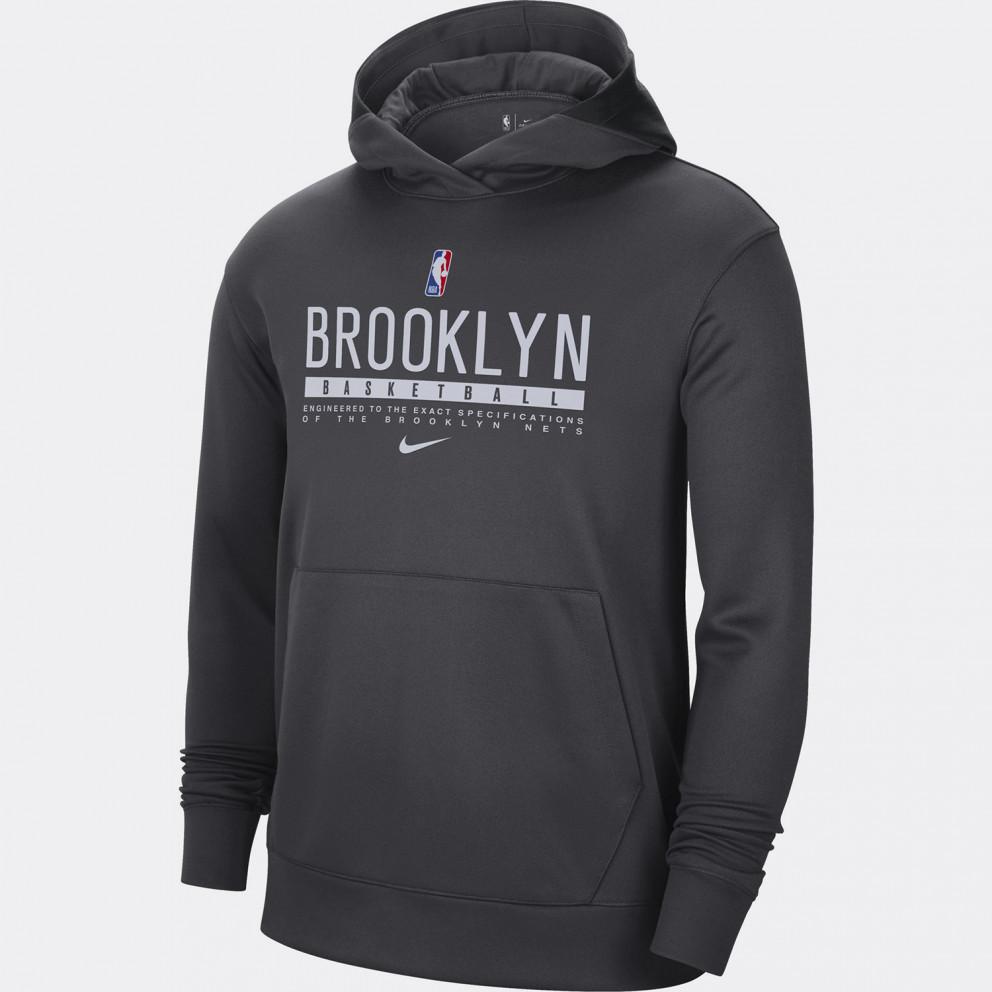 Nike Brooklyn Nets Spotilight Ανδρική Μπλούζα με Κουκούλα