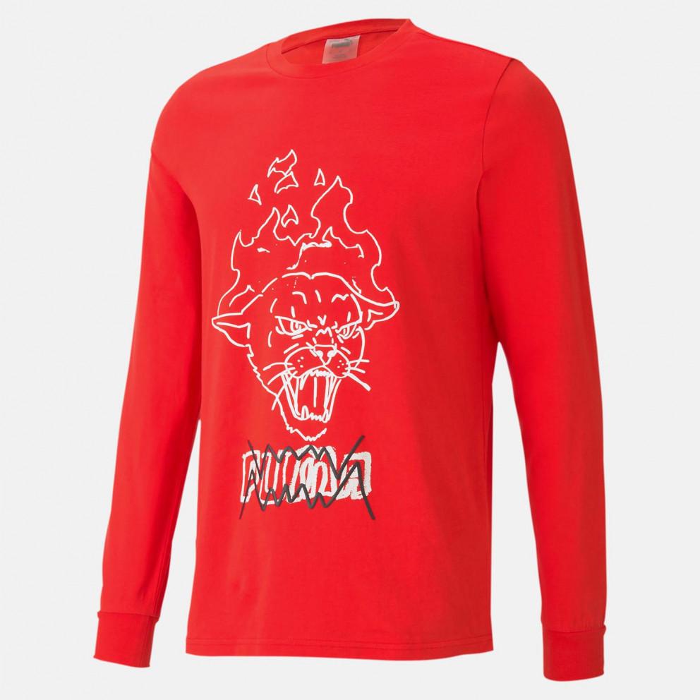 Puma Franchise Graphic Ανδρική Μακρυμάνικη Μπλούζα