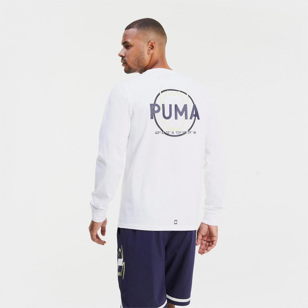 Puma Parquet Graphic Ανδρική Μακρυμάνικη Μπλούζα