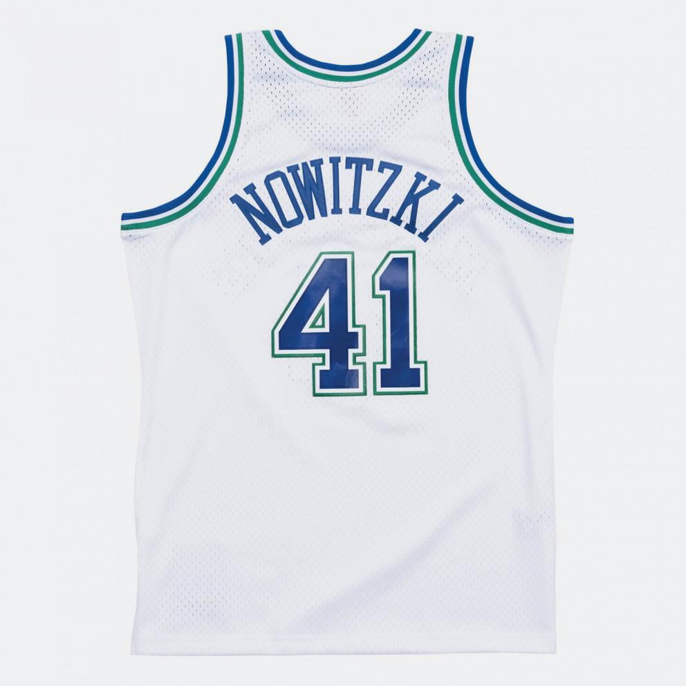 Swingman Jersey Dallas Mavericks 1998-99 Dirk Nowitzki Ανδρική Αμάνικη Μπλούζα