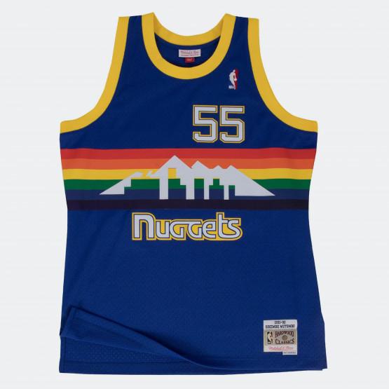 Swingman Jersey Denver Nuggets Road 1991-92 Dikembe Mutombo Ανδρική Αμάνικη Μπλούζα