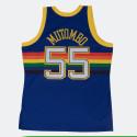 Swingman Jersey Denver Nuggets Road 1991-92 Dikembe Mutombo Men's Sleeveless Blouse