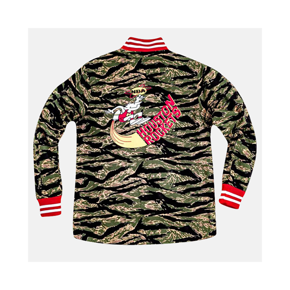 Mitchell & Ness NBA Houston Rockets Tiger Men's Camo Jacket