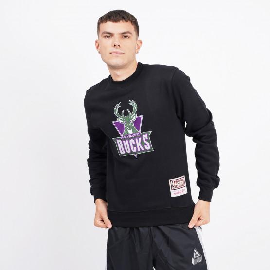 Mitchell & Ness Embroidered Logo Milwaukee Bucks Men's Sweatshirt