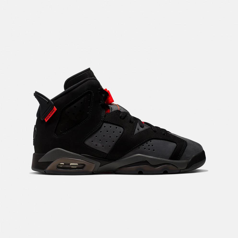 Jordan x PSG Air 6 Retro Kids' Basketball Shoes