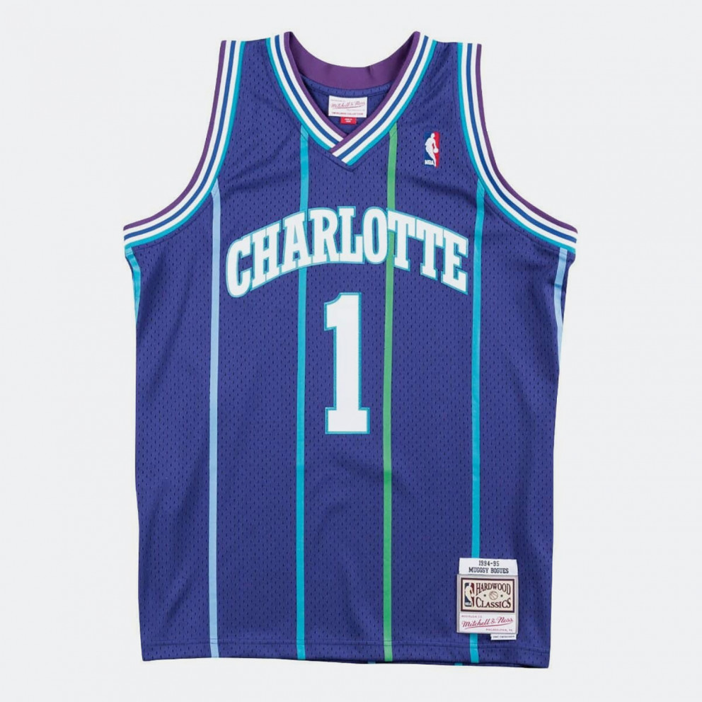 Men's Mitchell & Ness NBA jersey Charlotte Hornets Muggsy Bogues