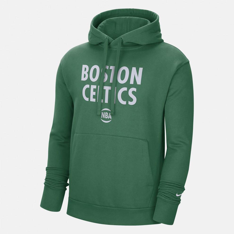 Nike NBA Boston Celtics City Edition Ανδρική Μπλούζα με Κουκούλα