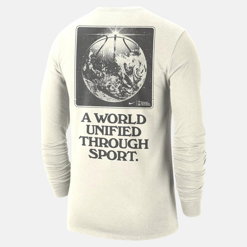 Nike Nba Τeam 31 Courtside Ανδρική Μακρυμάνικη Μπλούζα