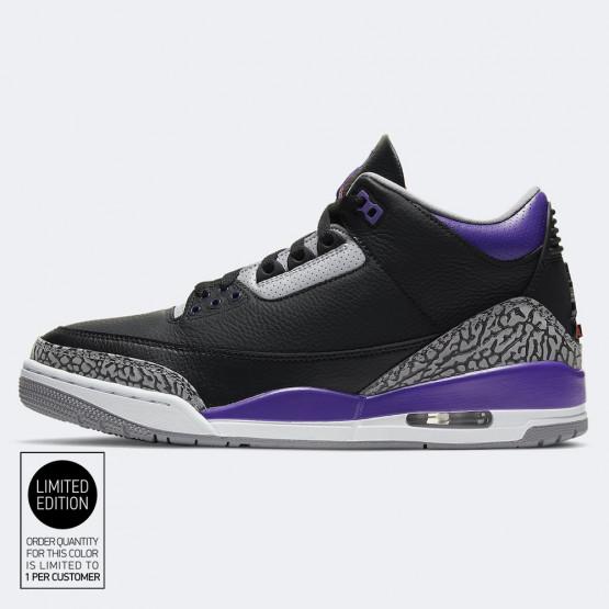 "Jordan Air 3 Retro ""Court Purple"" Ανδρικά Παπούτσια για Μπασκετικά"