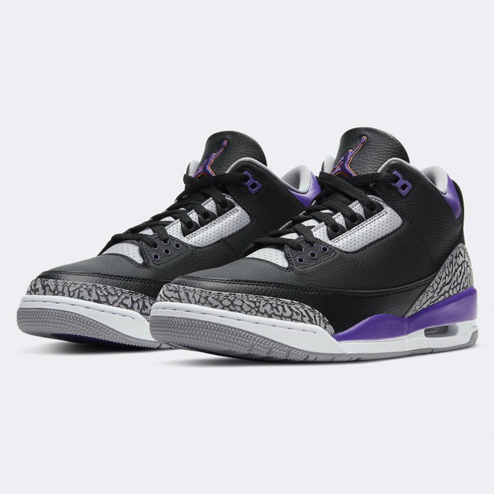 "Jordan Air 3 Retro ""Court Purple"" Ανδρικά Παπούτσια για Μπάσκετ"