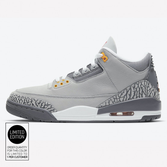 "Jordan Air 3 Retro ""Cool Grey"" Men's Basketball Shoes"
