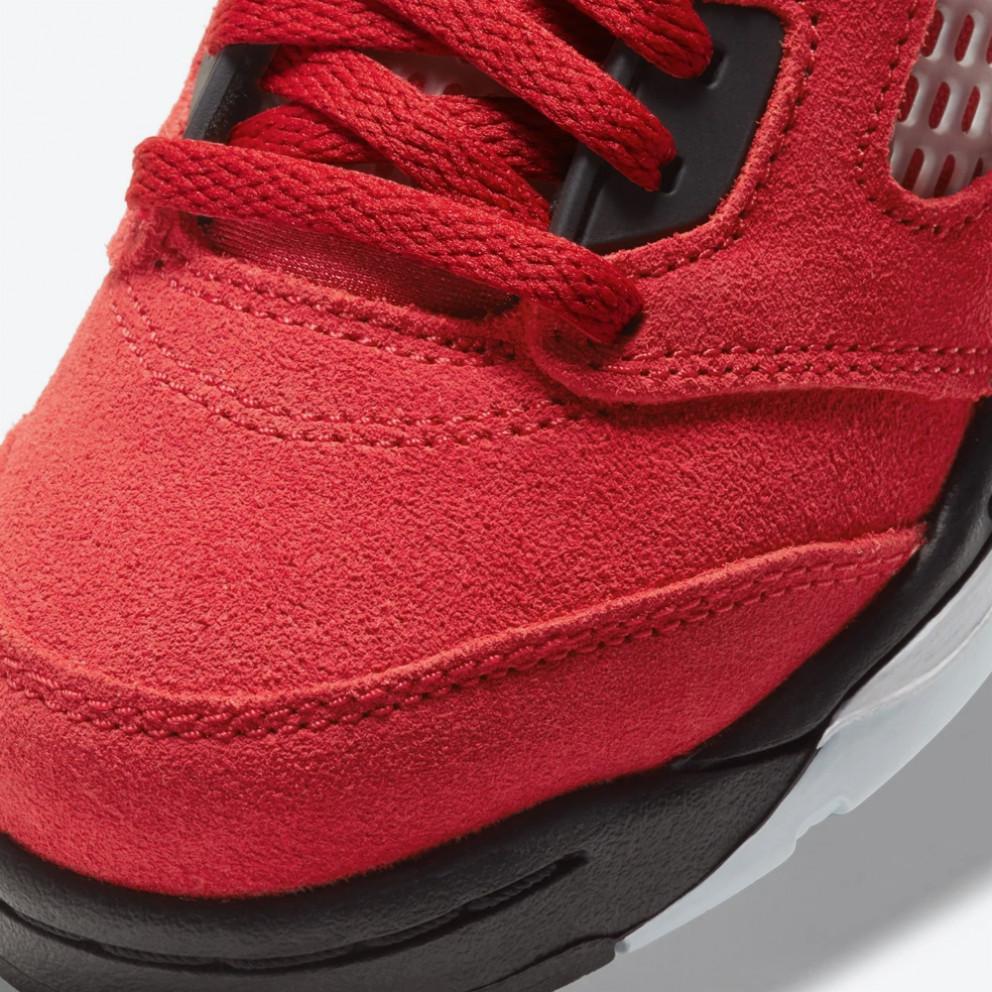 Jordan Air 5 Retro 'Raging Bull' Kids' Basketball Shoes