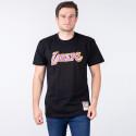 Mitchell & Ness Nba Neon Logo Los Angeles Lakers Men's T-Shirt