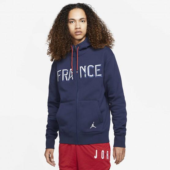 Jordan France Flight Men's Full-Zip Fleece Hoodie