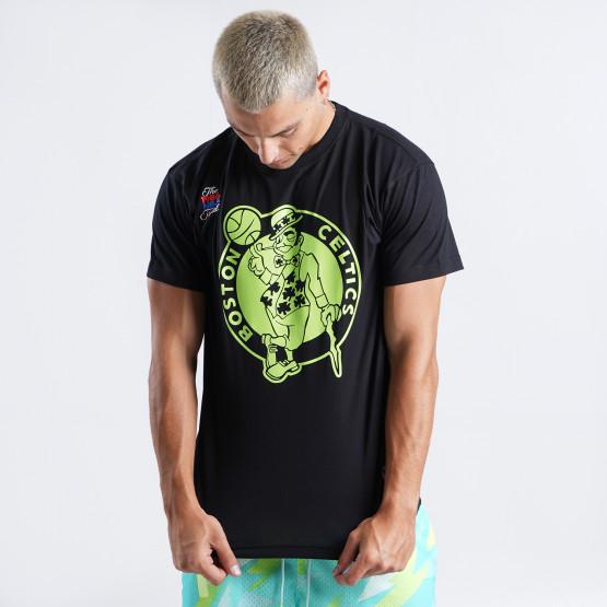 Mitchell & Ness Nba Neon Logo Tee Boston Celtics
