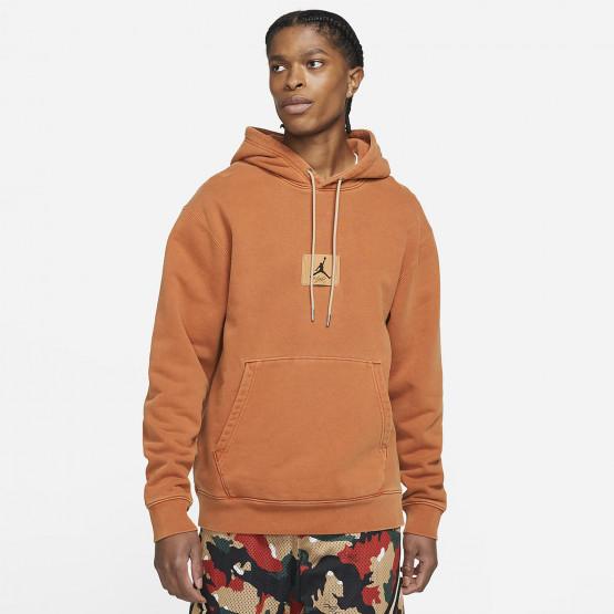 Jordan Heritage Washed Fleece Ανδρική Μπλούζα Με Κουκούλα