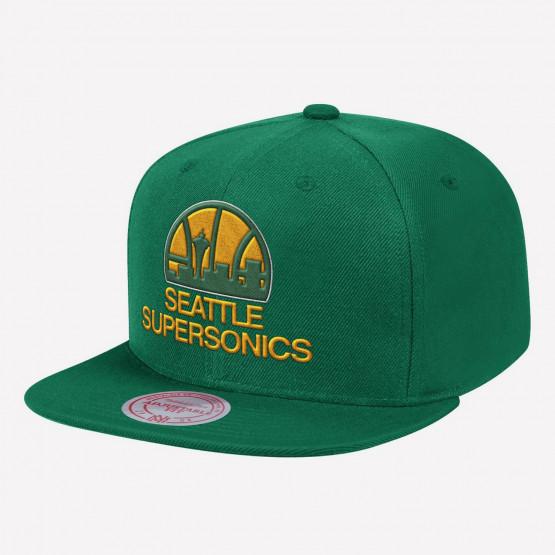 Mitchell & Ness Team Ground Snapback HWC Seattle SuperSonics Ανδρικό Καπέλο