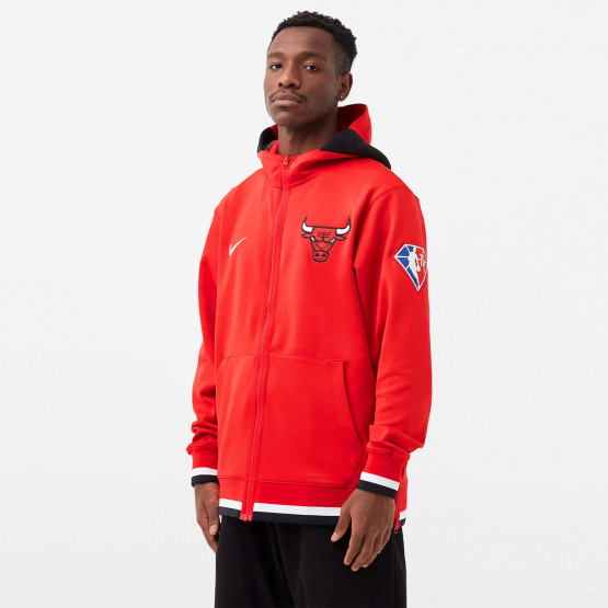 Nike Chicago Bulls Showtime Ανδρική Μπλούζα με Κουκούλα