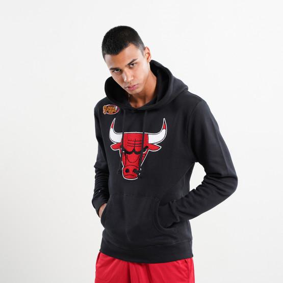 Mitchell & Ness Chenille Logo Chicago Bulls Ανδρική Μπλούζα με Κουκούλα