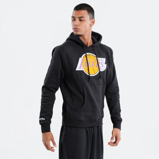 Mitchell & Ness Chenille Logo LA Lakers Ανδρική Μπλούζα με Κουκούλα