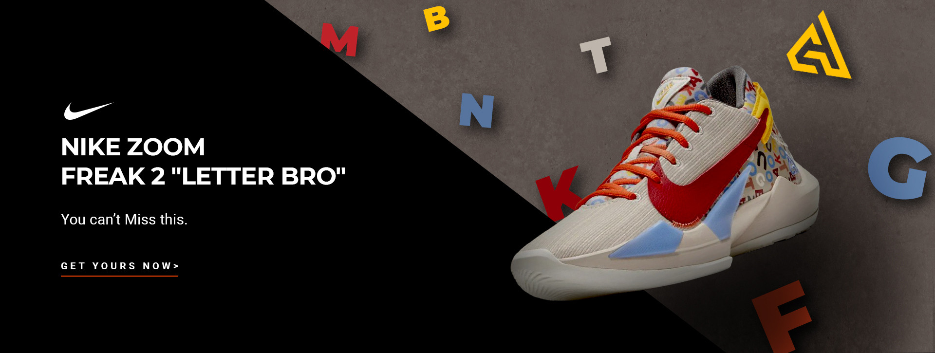 "Nike Zoom Freak 2 ""Letter Bro"" Men's Shoes"