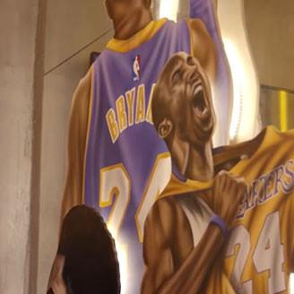 Kobe Bryant Mural in Slamdunk